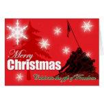 Comemore o cartão de Natal militar da liberdade