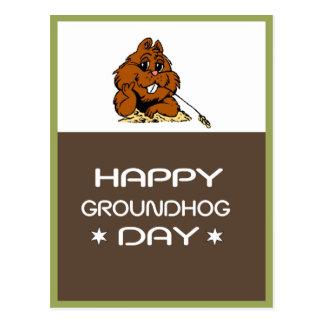 Comemore o cartão do dia de Groundhog