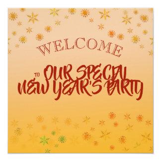 Comemore o convite de festas do ano novo