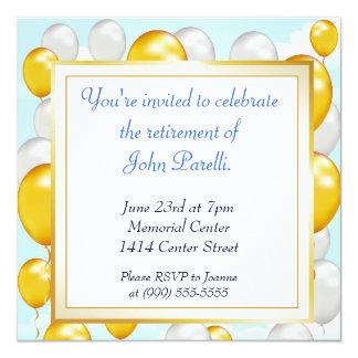 Comemore uma aposentadoria convite personalizados