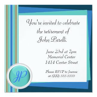 Comemore uma aposentadoria convites personalizado