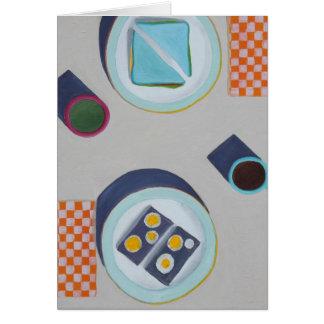 Comendo o almoço junto cartões
