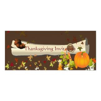 Comensal da acção de graças, folhas de bordo convite personalizados