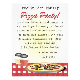 Comensal da pizza convite personalizado
