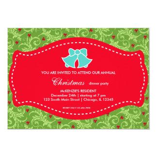 Comensal de Natal Convite Personalizados