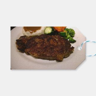 Comensal do bife da costela de primeira qualidade etiqueta para presente