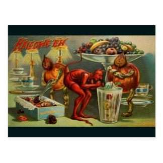 Comensal do Dia das Bruxas Cartão Postal
