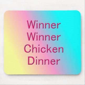 Comensal Mousepad da galinha do vencedor do