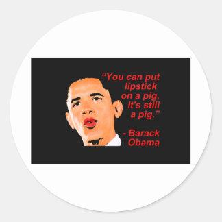 Comentário de Obama do batom Adesivo Em Formato Redondo