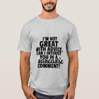 Comentário sarcástico espirituoso das camisetas camiseta