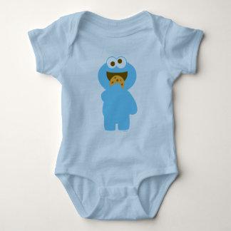 Comer do monstro do biscoito do bebê body para bebê