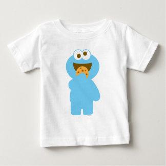 Comer do monstro do biscoito do bebê camiseta para bebê