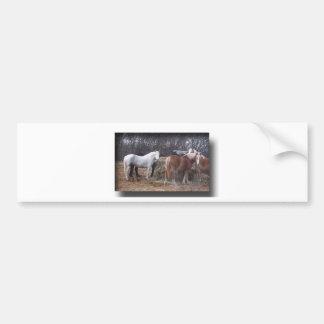 Comer dos cavalos de esboço adesivo para carro