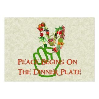 Comer para a paz cartão de visita grande