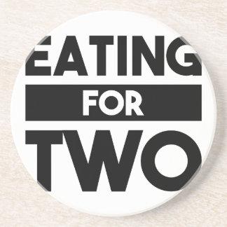 Comer para dois porta-copos