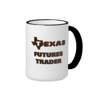 Comerciante de futuros de Texas Caneca Com Contorno