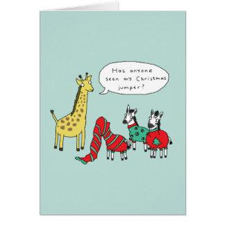 Cómico clássico do cartão de Natal | da zebra e do