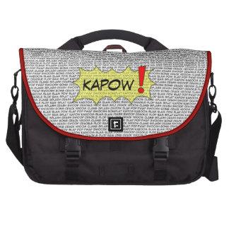 Cómico fale o saco super do laptop bolsa para laptops