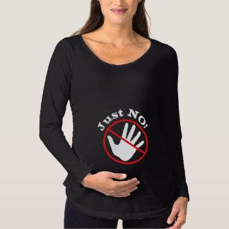 """Cómico """"não toque em me"""" a camisa de maternidade"""