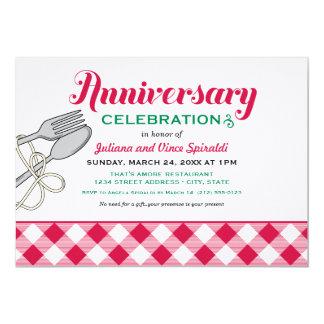 Comida italiana do convite | do aniversário de convite 12.7 x 17.78cm