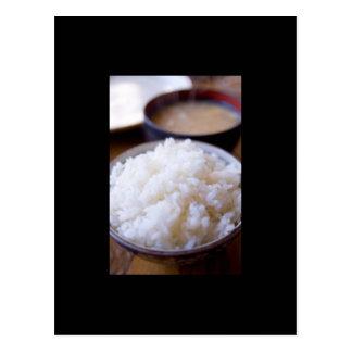Comida no cartão de Japão