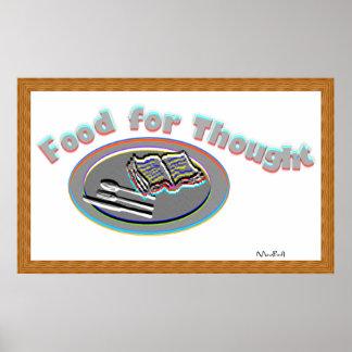 Comida para o pensamento - Poster-1 Poster