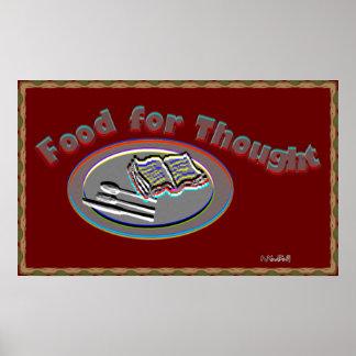 Comida para o pensamento poster-2 poster