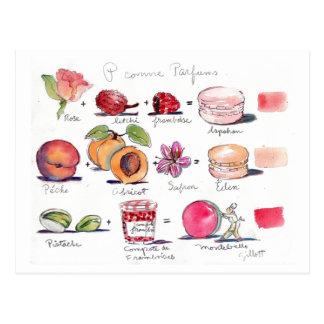 Comme Parfum Macaron de P Cartão Postal