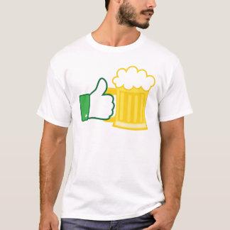 Como a cerveja camiseta