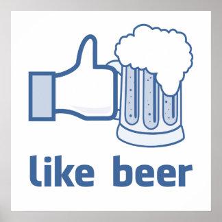 Como a cerveja impressão