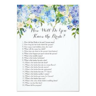 Como bem você conhece a noiva? convite 12.7 x 17.78cm