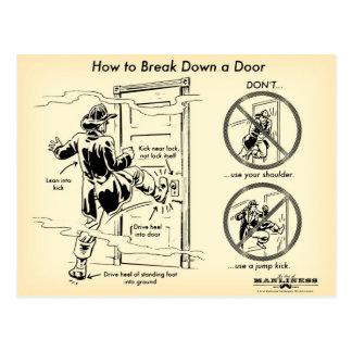 Como dividir um cartão da porta