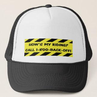 """""""Como é minha equitação?"""" bonés do ciclismo"""