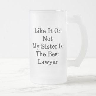Como ele ou não minha irmã é o melhor advogado caneca de cerveja vidro jateado
