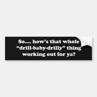 Como essa coisa do bebê da broca drilly está traba adesivo para carro