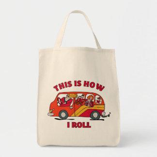 Como eu rolo a carrinha da mamã bolsas para compras