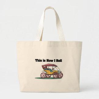 Como eu rolo (carrinho antiquado/carro) bolsas de lona