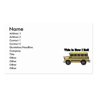 Como eu rolo (o auto escolar) cartão de visita