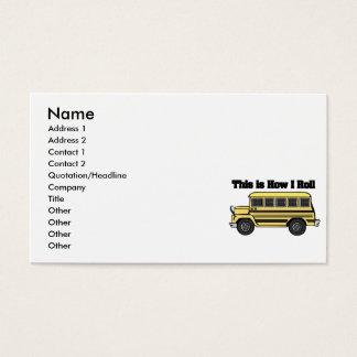 Como eu rolo (o auto escolar) cartão de visitas