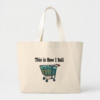 Como eu rolo o carrinho de compras bolsas para compras
