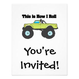 Como eu rolo (o monster truck) convite
