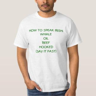 Como falar o irlandês camiseta
