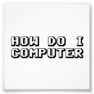 Como faz o computador de I Impressão De Foto