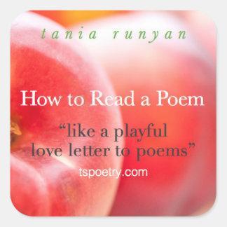 Como ler etiquetas de um poema