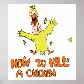 Como matar uma galinha pôster