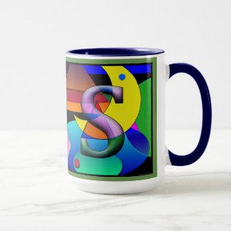 COMO Monogramed, caneca de café rubricada