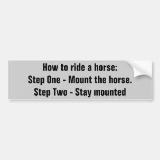 Como montar um cavalo.   Reboque do cavalo Adesivo Para Carro