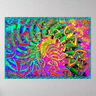 Como o Fractal 3D psicadélico dos doces Poster