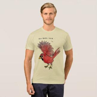 Como os pássaros acenam o cardeal camiseta