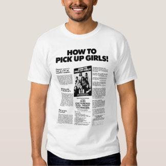 Como pegarar meninas! Anúncio do vintage Tshirts